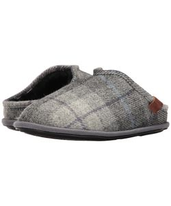 Bedroom Athletics | William Harris Tweed Charcoal Check Mens Slippers