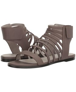 Eileen Fisher   Otto Elephant Matte Leather Womens Sandals