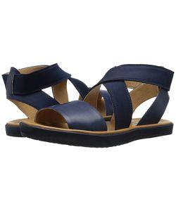 Corso Como | Brune Navy Leather Womens Sandals
