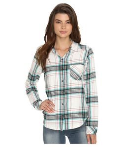 Rvca | Jig 4 Top Vintage Womens Long Sleeve Button