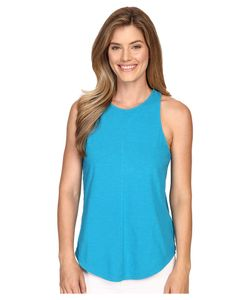 LILLA P | Flame Voile Racerback Tank Top Deep Sea Womens