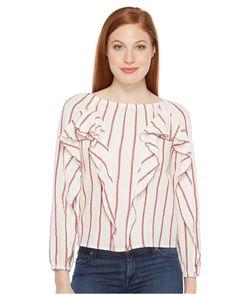 INTROPIA | Striped Blouse W Ruffles Stripe Womens Blouse