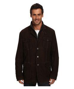 Stetson   Suede Jacket W Wool Zipper Insert Mens Coat