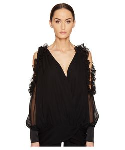 Thomas Wylde | Bluebell Cold Shoulder Long Sleeve Top Opal