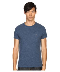 TODD SNYDER | Weathered Button Crew Tee Indigo Mix Mens T