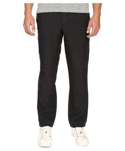 TODD SNYDER | Brighton Linen Pants Charcoal Mens Casual Pants