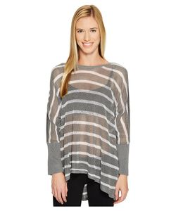 BLANC NOIR® | Stripe Drape Sweater Light Heather Womens Sweater