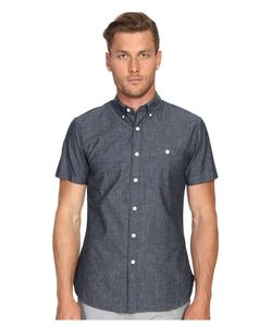 TODD SNYDER | Short Sleeve Chambray Button Up Indigo Mens Short