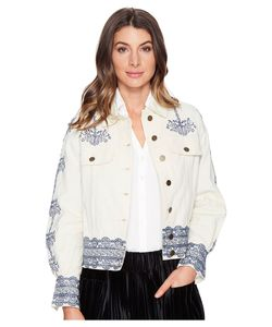 INTROPIA | Embroidered Jacket Linen Womens Coat