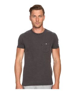 TODD SNYDER | Weathered Button Crew Tee Charcoal Mens T Shirt