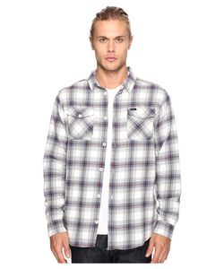 Rvca | Thatll Work Flannel Long Sleeve Antique Mens Clothing