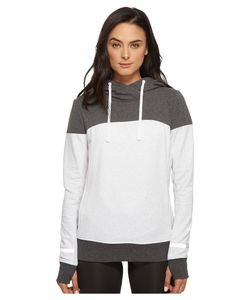 BLANC NOIR® | Cross Over Hoodie Ash Heather Womens Sweatshirt