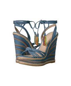 PELLE MODA | Onos Chambray Denim Womens Wedge Shoes