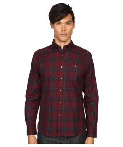 TODD SNYDER | Plaid Shirt Maroon Mens Clothing