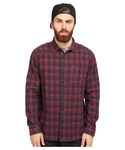 Rvca | Soon As Long Sleeve Woven Pompei Mens Clothing