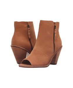Corso Como | Tameka Cognac Nubuck Womens Zip Boots