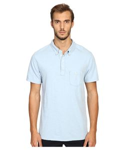 TODD SNYDER | Weathered Pocket Polo Pale Surf Mens Clothing