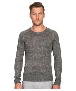 TODD SNYDER | Saddle Pocket Crew Sweater Charcoal Mens Sweater