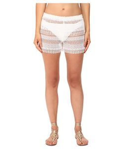 Queen & Pawn | Queen Amp Pawn Marathi Lace Vintage-Dyed Beach Shorts Womens