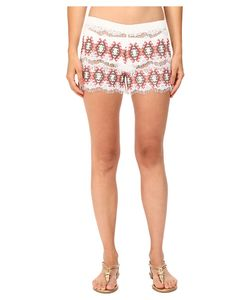 Queen & Pawn | Queen Amp Pawn Kea Lace Embroidered Shorts Womens Swimwear