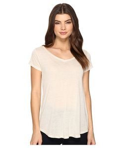 Obey | Lou V-Neck Tee Cobblestone Womens T Shirt