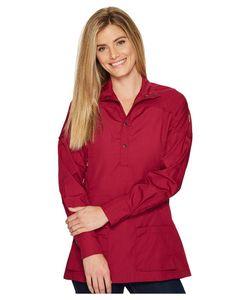 Fjallraven   Abisko Shade Tunic Plum Womens Short Sleeve Button Up