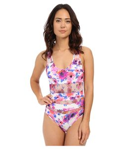 Saha | Flora Mesh Cut One-Piece Womens Swimsuits One