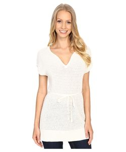 Pendleton | Belted Tunic Ivory Womens Short Sleeve Pullover
