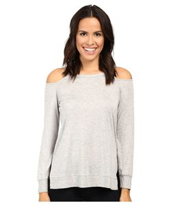 Lanston | Cut Out Shoulder Pullover Heather Womens Clothing