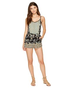 Angie | Strappy Print Romper Womens Jumpsuit Rompers One