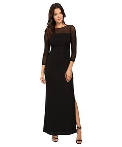 Laundry By Shelli Segal | Matte Jersey Gown W Mesh Sleeves