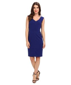 Laundry By Shelli Segal | Modern Seamed Crepe Dress Galaxy Womens