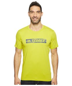 ADIDAS OUTDOOR | Logo Bar Tee Unity Lime Mens T Shirt