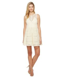 Adelyn Rae | Marissa Woven Lace Fit And Flare Ivory Womens