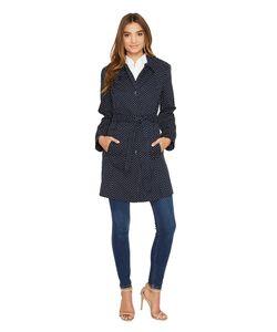 LONDON FOG   Dot Trench Coat Womens Coat