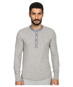 TODD SNYDER | Classic Chambray Henley Heather Mens Clothing