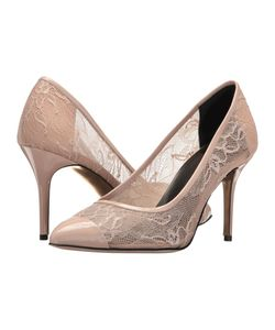 Oscar de la Renta | Willow 85mm Nude Lace/Patent Leather Womens