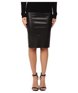 LaMarque   Avana Stretch Leather Pencil Skirt Womens Skirt
