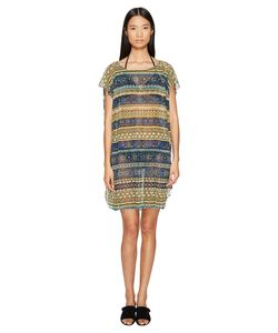 Fuzzi | Off The Shoulder Stripe Cover-Up Zaffiro Womens Clothing
