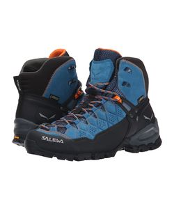Salewa | Alp Trainer Mid Gtxr Washed Denim/Carrot Womens Shoes