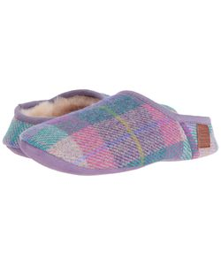 Bedroom Athletics | Edith Lilac Check Womens Slippers