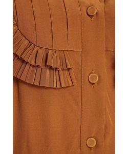 Rochas | Шелковое Платье-Рубашка С Оборками