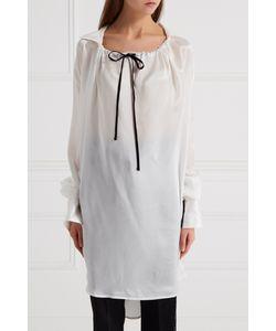 Ann Demeulemeester | Шелковая Блузка С Завязками