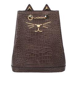 Charlotte Olympia | Рюкзак Из Лакированной Кожи Feline Bucket Bag