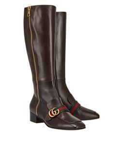 Gucci | Кожаные Сапоги