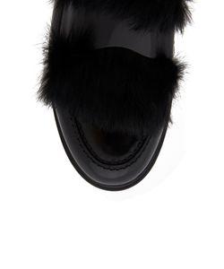 AGL   Кожаные Ботинки С Мехом Кролика