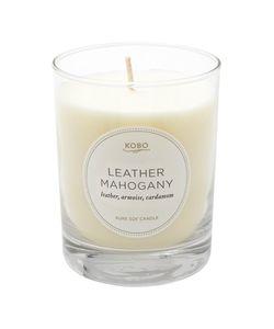 Kobo Candles | Ароматическая Свеча Leather Mahogany 312Гр.
