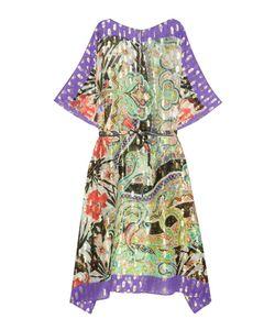 Etro | Шелковое Платье С Люрексом