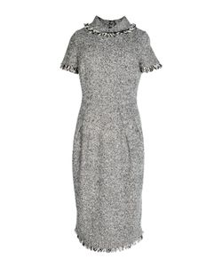 OSCAR DE LA RENTA VINTAGE | Платье С Бахромой На Рукавах Вороте И Подоле 2001 Г.