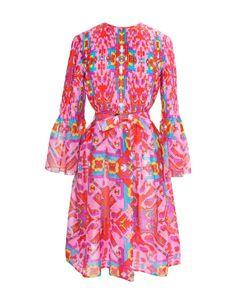 OSCAR DE LA RENTA VINTAGE | Шелковое Платье С Плиссированным Верхом 70-Е Гг.